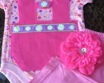 READY TO SHIP 0-3 month baby girl Oktoberfest outfit