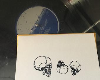 Note cards + envelopes: Skulls (rolling)