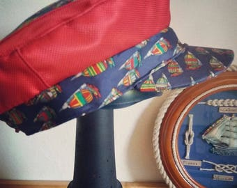 Fischerman/fiddler cap-fisherman's hat in silk