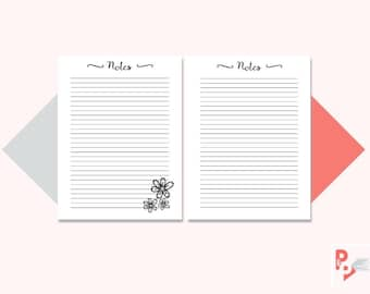 NOTES Happy Planner Printable Inserts, Create 365, Happy Planner Insert, Happy Planner Classic, MAMBI Planner, Instant Download