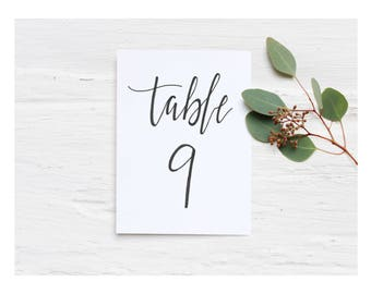 Black Wedding Table Numbers | Customized Calligraphy | Table Numbers | Wedding Seating | Black Wedding Decor | Table Numbers For Weddings