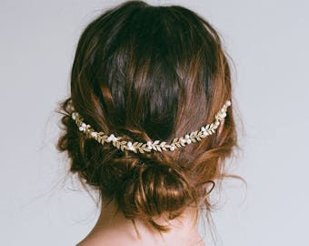 Bridal Hair Vine, Gold Leaf Hair Vine, Leaf Wreath, Gold Headband, Gold hair vine, Bride Hair Accessories, Leaf hair vine