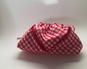 Red gingham small bag