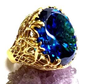 "Natural Zircon ""Blue Moon"" Ring"