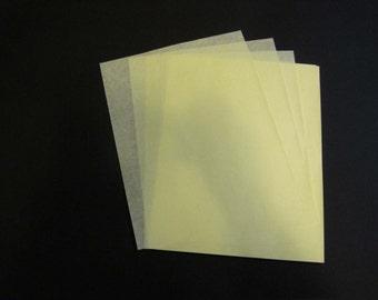 Yellow Onionskin Paper, Manifold Paper -  Typewriter Second Sheets - 40 sheets