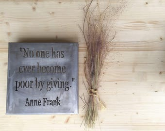 anne frank giving