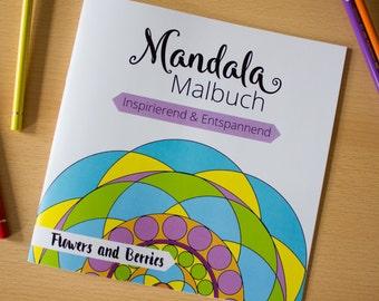 Digital Mandala Ausmalbuch, mit einfachen und fortgeschrittenen Mandals und inspirierenden Zitaten,  Digital Download, PDF File,