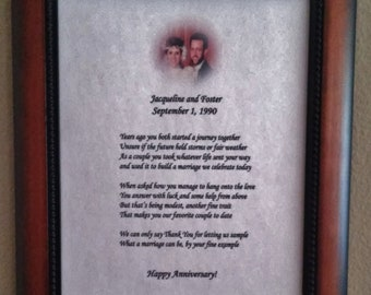 Personalized Anniversary Print with Original Poem