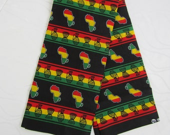 Africa map fabric,African clothing for women,African fabric,African clothing,Tissus Africain,Ghana fabric,Wall hanging fabric