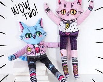 Two Special Friends - Set of two cat dolls at a reduced price