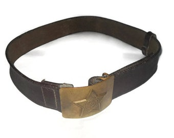 Military surplus Military belt Military belt buckle Soviet army Vintage army belt Soviet military Vintage uniform Army surplus 80s Army belt