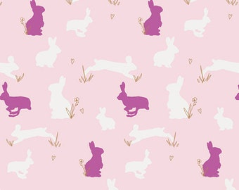 Bunny Binkies Fluff Metallic from Anna Elise designed by Bari J for Art Gallery Fabrics, fabric yardage, cotton, quilting, easter