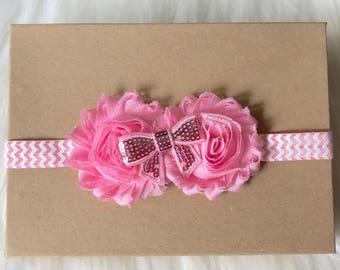 Light Pink Baby Headband, Baby Headband, Newborn Headband, Pink Headband, Infant Headband, Baby Girl Headband, Headband, Baby Hair Bow, Baby