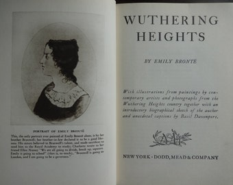 Vintage American Hardback Book Wuthering Heights Emily Bronte circa 1942 / English Shop