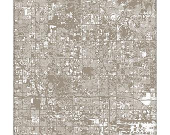 Phoenix Cityscape / Arizona State Map Art Print ASU Graphic City Poster / Choose your color / 8x10 Wall Art