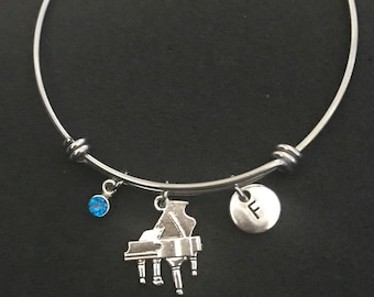 Personalized Piano Bangle Personalized Piano Bracelet