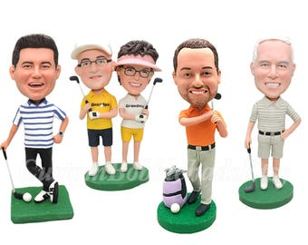 Custom Golf Bobbleheads - Best Friend Gift - Sports Gifts - Fathers Day Golf - Gifts For Dad - Boss Gift - Personalized Golf Gifts For Men