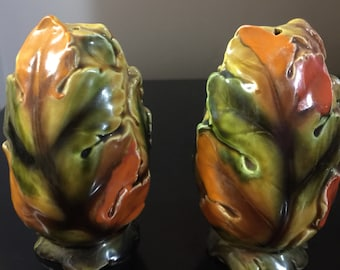Fall Leaves Giftcraft Japan Salt and Pepper Shakers