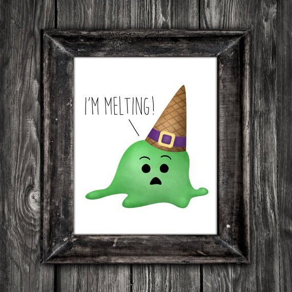 Iu0027m Melting Digital 8x10 Printable Poster Funny Movie