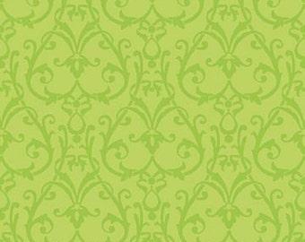 Picadilly Circle Swirls Lime Green Fabric 1 Yard