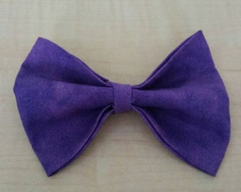 Purple textured hair bow