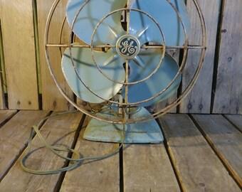 General Electric Fan, Vintage Blue Fan