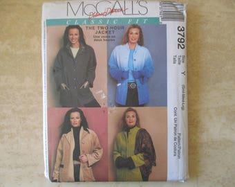 S M L jacket McCall pattern ' S