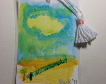 Painted Bookmark; Watercolor bookmark ;  handpainted ;  watercolor bookmark ;  art bookmark ;  art ;  artistic ;  painting ;  painting
