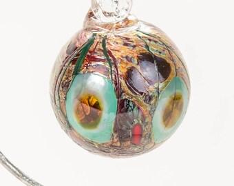 604118 Medium Hand Blown Hanging Art Glass Ball Decorative Ornament