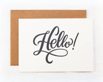 Letterpress Hello Card | Stationery | Greeting Card