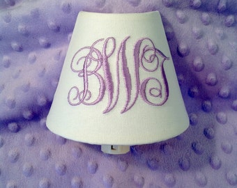 Abigail Monogrammed Night Light (other colors available for monogram)