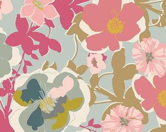 Blomma Garden Pastiche in Voile from Heartland by Pat Bravo For Art Gallery Fabrics - 1/2 yard