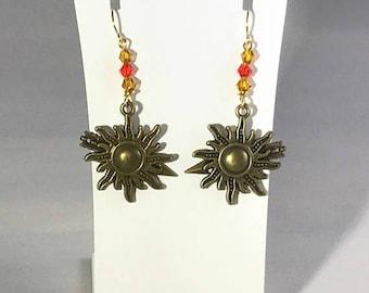 House Martell of Sunspear Sun Earrings Game of Thrones Inspired- Oberyn, Doran, Elia, Arianne