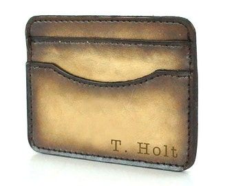 Credit Card Wallet - Minimalist Wallet - Thin Wallet - Groomsmen Gift