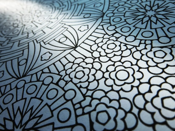 Mindfulness Coloring Pages Pdf : Mandala coloring page eye of gods coloring page to print