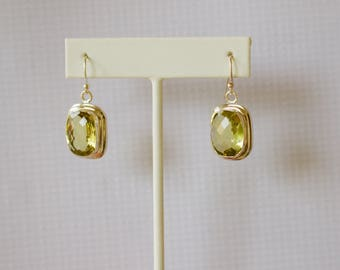 Sterling Silver. Lemon Quartz. Gorgeous Sterling Silver with Lemon Quartz Earrings.