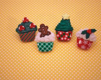 Cupcake Earrings -- Cupcake Studs, Cupcake Jewelry, Pick your favorite cupcake!