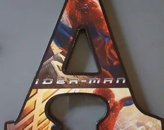 Spiderman Wood Letters
