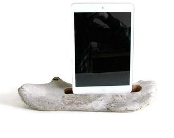 Docking Station, Driftwood iPad dock, iPad Charger, iPad mini Charging Station, driftwood ipad dock, wood ipad dock/ Driftwood- No. 560