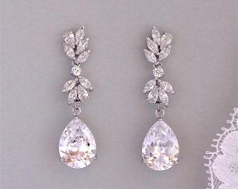 Bridal Earrings, Wedding Earrings, Crystal Chandelier Bridal Earrings, Crystal Bridal Jewelry, ANNIE C