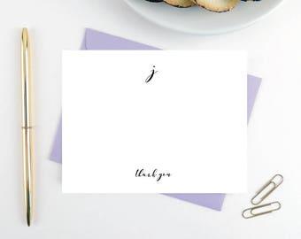 Personalized Stationery Note Card Set / Personalized Stationary / Wedding Stationery/ Professional Stationery Set/ Calligraphy Monogram