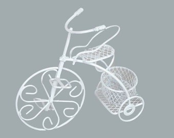 White Bicycle Wedding Favor Bike Wedding Decorations Baby Shower Wire Bicycle