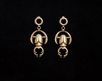 LUCANIA earrings : modern bronze earrings
