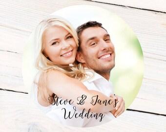 Wedding Photo Personalized Labels, Birthday Personalized Labels - Custom Gift Labels