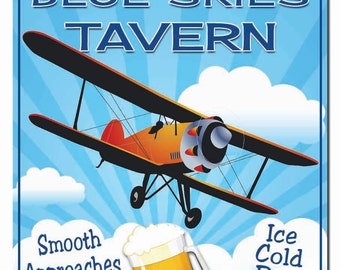 Personalized Pilot Tavern Hardboard Wall Sign