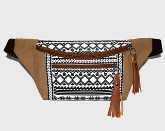 Fanny packs Light Brown Thai Triangle/fanny pack/Hip Bags/belt bag/bum bag/bags/fanny pack festival/waist bag/crossbody bag/buy 3 get 1 free