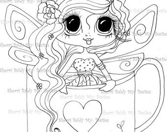 INSTANT DOWNLOAD Digital Digi Stamps Big Eye Big Head Dolls Digi  Img514 By Sherri Baldy