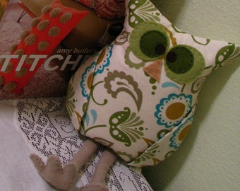 Oliver Owl Bookend Doorstop Pillow Tutorial PDF Pattern