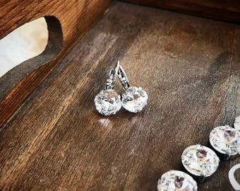 Swarovski Crystal Drop Earrings in Crytal clear