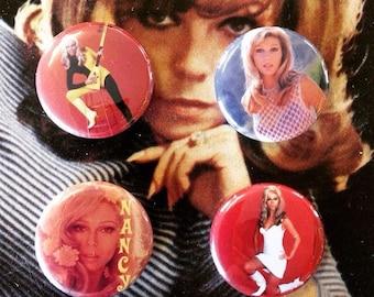 Nancy Sinatra 1 inch badge set of four